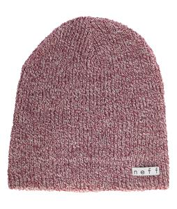 Neff Daily Heather Beanie Maroon/White