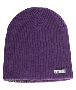 Neff Daily Reversible Beanie Purple/Black White Heather