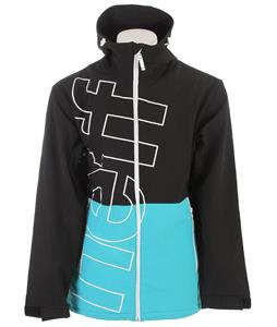Neff Daily Softshell Jacket Black/Cyan