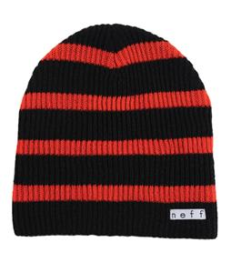 Neff Daily Stripe Beanie Black/Red