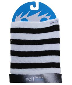 Neff Daily Stripe Neck Gator White/Black