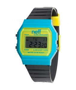 Neff Flava Watch Cyan/Yellow/ Black