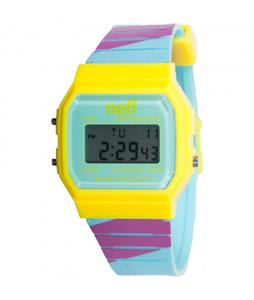 Neff Flava Watch Maroon Stripe/Yellow
