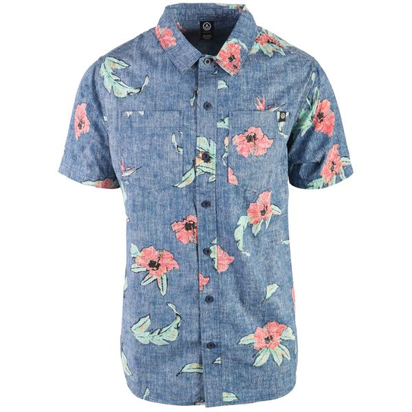 Neff Floral Push Button Up Shirt