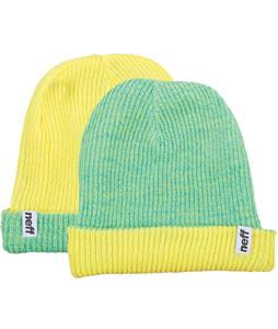 Neff Fold Reversible Beanie Tennis/Slime/Tennis Heather