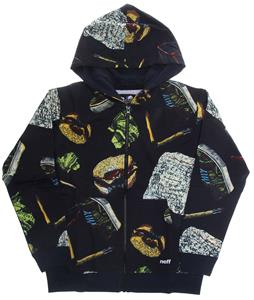 Neff Hamburger Zip Up Hoodie