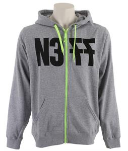 Neff Numeral Zip Hoodie Athletic Heather