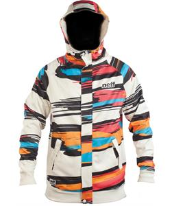 Neff Painted Stripe Shredder Hoodie White/Red