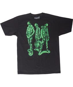 Neff Run Green T-Shirt Black