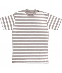 Neff Stripe Crew Slub T-Shirt Athletic Heather