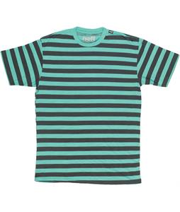 Neff Stripe Crew Slub T-Shirt Teal Heather