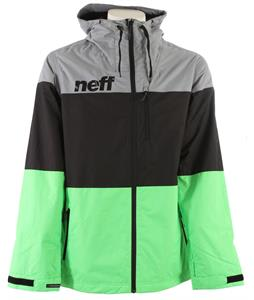 Neff Trifecta Snowboard Jacket Grey/Black/Slime