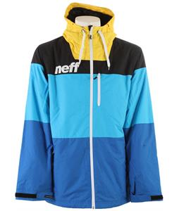 Neff Trifecta Snowboard Jacket Yellow/ Cyan/Blue