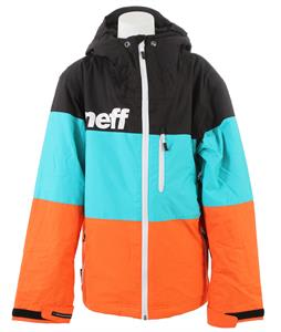 Neff Youth Trifecta Snowboard Jacket Black/Teal/Orange