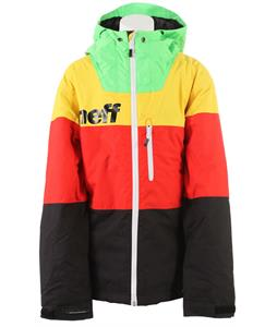Neff Youth Trifecta Snowboard Jacket Green/Yellow/ Red