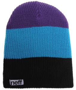 Neff Trio Beanie Black/Cyan/Purple