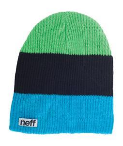 Neff Trio Beanie Cyan/Black/Slime