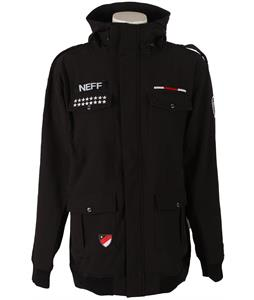 Neff Warplanes Softshell Snowboard Jacket Black