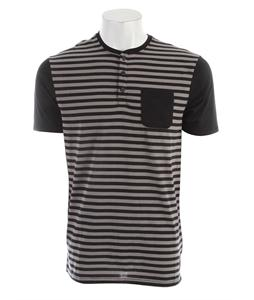 Nike Captain Stripe Dri-Fit Henley Black/Flat Pewter