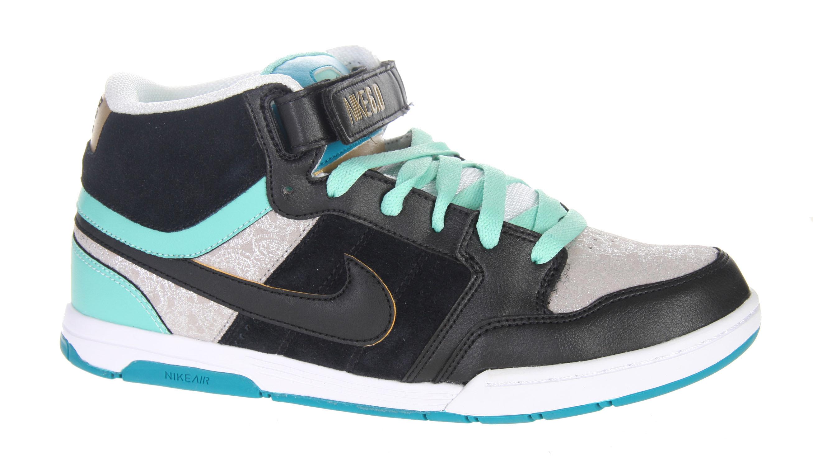 nike air mogan mid skate shoes