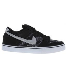 Nike Dunk Low Lr Skate Shoes Black/White/Metallic Silver