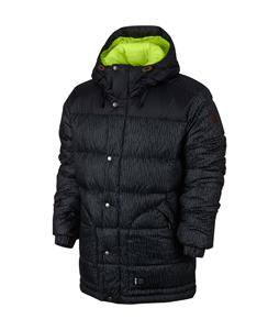 Nike 700 Down Print Snowboard Jacket Black/Dk Magnet Grey/Volt/Magnet Grey