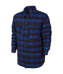 Nike 800 Aeroloft Flannel Snowboard Jacket Deep Royal Blue/Lt Photo Blue/Photo Blue