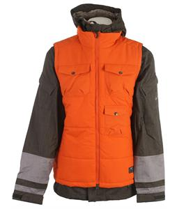 Nike Bellevue 3 In 1 Snowboard Jacket Newsprint/Canton Grey/Urban Orange