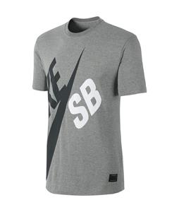 Nike Big SB T-Shirt Dk Grey Heather/Dk Grey Heather/Seaweed