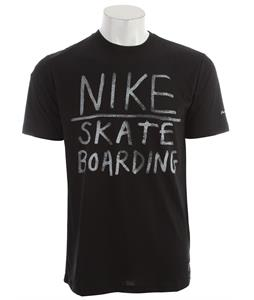 Nike Hand Print Dri-Fit Blend T-Shirt Black