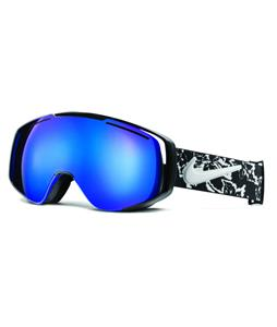 Nike Khyber Goggles Black/White Floral/Dark Smoke Blue Ion And Pink Ion Lens