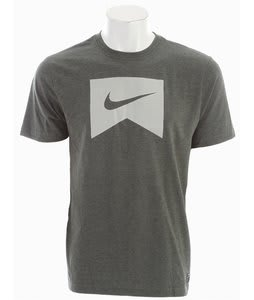 Nike Ribbon Icon T-Shirt Newsprint Heather/Medium Grey