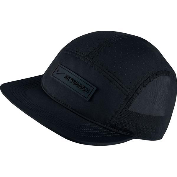 nike sb 5 panel hat black