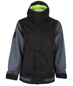 Nike SB Hazed Snowboard Jacket Black/Dk Magnet Grey/Volt/Black