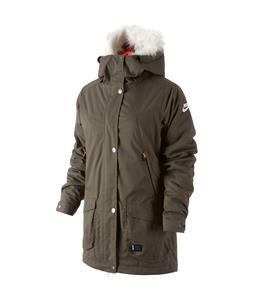 Nike SB Hudson Parka Snowboard Jacket Cargo Khaki/Bright Mango/Ivory