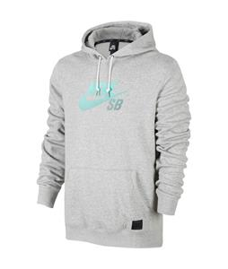 Nike SB Icon Gradient Pullover Hoodie Dk Grey Heather/Dk Grey Heather/Dk Grey Heather/Crystal Mint