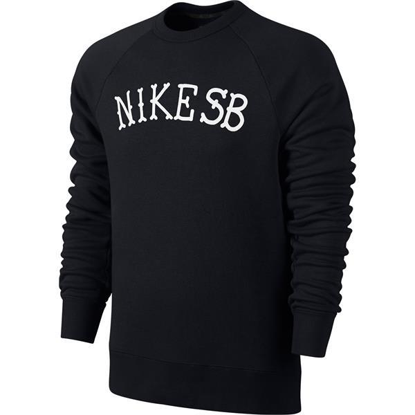 Nike SB Icon Graphic Crew 2 Sweatshirt Black/White