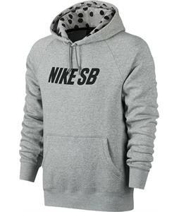 Nike SB Icon Graphic Pullover Hoodie Dk Grey Heather/Black