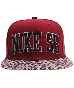 Nike SB Leopard Snapback Cap Team Red/Black/Base Grey