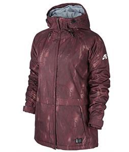 Nike SB Lustre Print Snowboard Jacket Deep Burgundy/Bright Mango/Ivory
