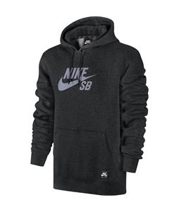 Nike SB Po Reflective Icon Hoodie Black Heather/Reflect Silver