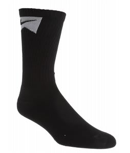 Nike Skate Crew 3 Pack Socks Black/White
