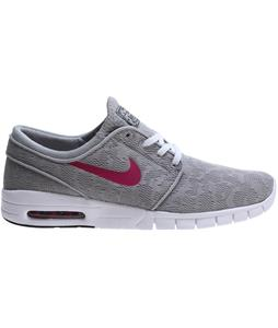 Nike Stefan Janoski Max Skate Shoes Base Grey/Bright Magenta-White