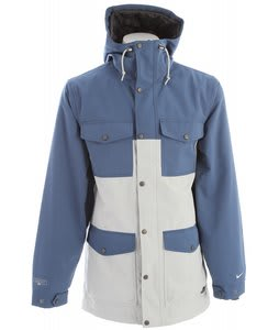 Nike Van Pattern Snowboard Jacket Utility Blue/Light Bone