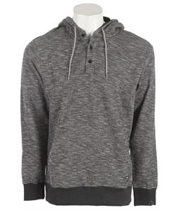 Nike Waffle Henley Pullover Hoodie Black Heather/Black