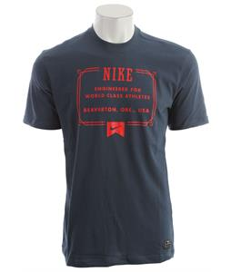 Nike Lock Up Dri Fit T-Shirt Squadron Blue/Pimento