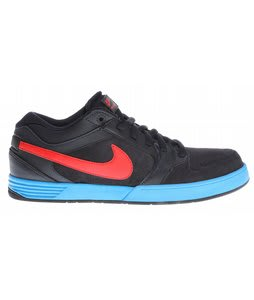 Nike Mogan 3 Skate Shoes Dark Obsidian/Blue Glow/Challenge Red