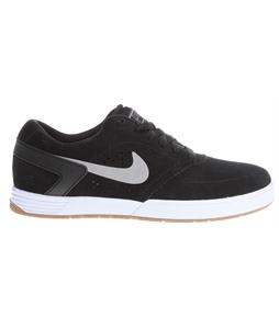 Nike Paul Rodriguez 6 Skate Shoes Black/White/Gum Med Brown/Medium Grey