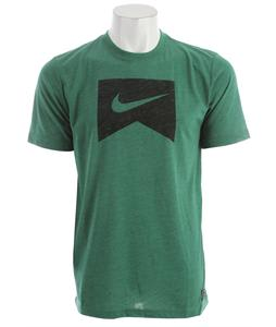 Nike Ribbon Logo Dri-Fit T-Shirt Lt Pine Green Heather/Black