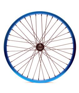 Eastern Double Shot Front 3/8 36H BMX Wheel Blue 3/8